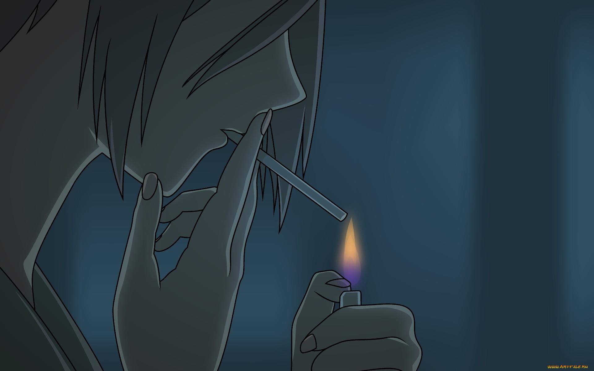 Картинка курит в аниме